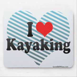 Amo el Kayaking Tapete De Ratones