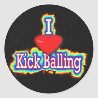 amo el kickballing del pegatina