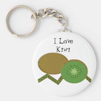 Amo el kiwi llavero redondo tipo pin