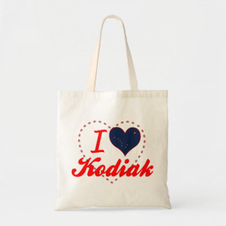 Amo el Kodiak, Alaska Bolsas De Mano