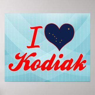 Amo el Kodiak, Alaska Impresiones