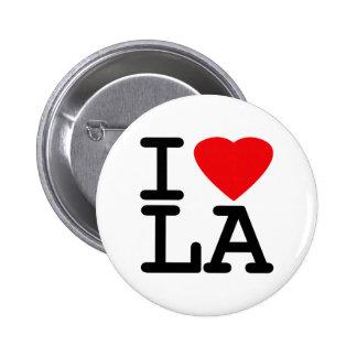 Amo el LA del corazón Pin Redondo 5 Cm
