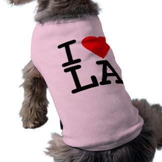Amo el LA del corazón Camisetas De Mascota