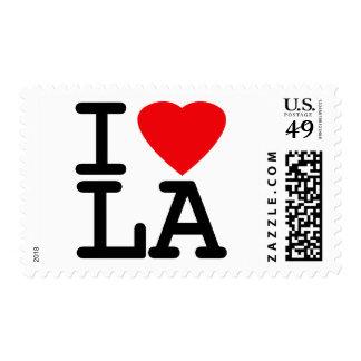 Amo el LA del corazón Sello Postal