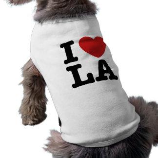 Amo el LA Playera Sin Mangas Para Perro
