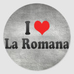 Amo el La Romana, República Dominicana Etiquetas Redondas