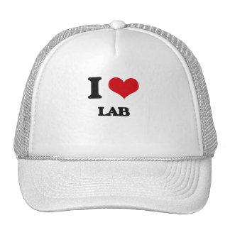 Amo el laboratorio gorros bordados