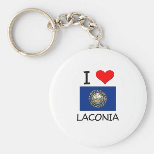 Amo el Laconia New Hampshire Llavero Personalizado