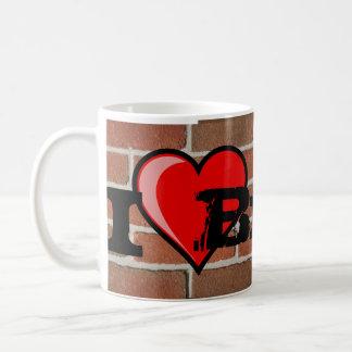 Amo el ladrillo taza