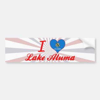Amo el lago Aluma Oklahoma Etiqueta De Parachoque