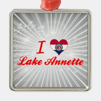 Amo el lago Annette Missouri Ornamento De Reyes Magos