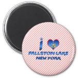 Amo el lago Ballston, Nueva York Iman De Frigorífico