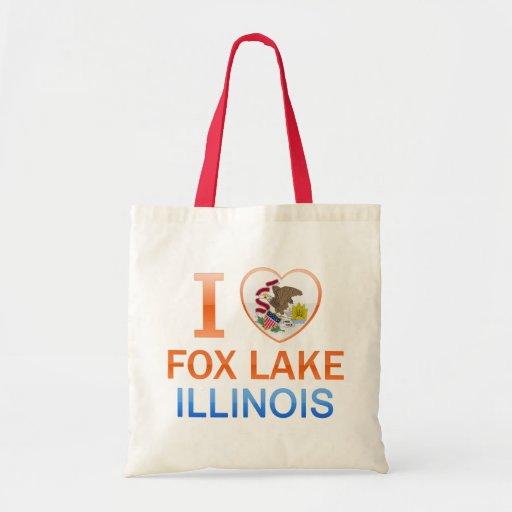 Amo el lago Fox, IL Bolsas De Mano