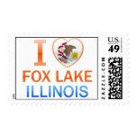 Amo el lago Fox, IL Sellos