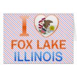 Amo el lago Fox, IL Tarjetas