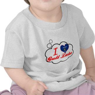Amo el lago gull Wisconsin Camisetas