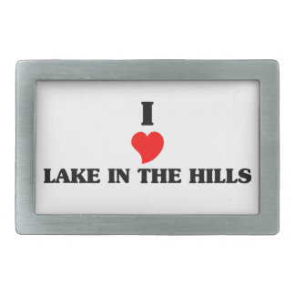 Amo el lago Jackson Hebillas De Cinturon Rectangulares