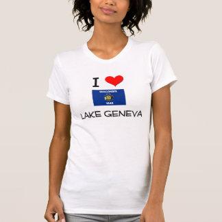Amo el lago Lemán Wisconsin Camisetas