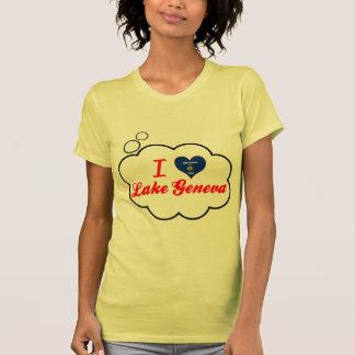 Amo el lago Lemán, Wisconsin T-shirts