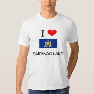 Amo el lago Nueva York Saranac Poleras