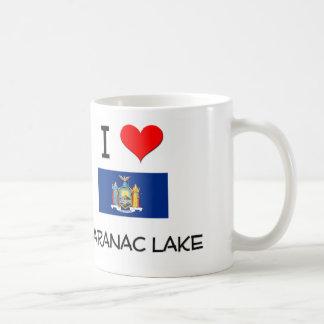 Amo el lago Nueva York Saranac Tazas