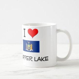 Amo el lago Nueva York Tupper Taza De Café