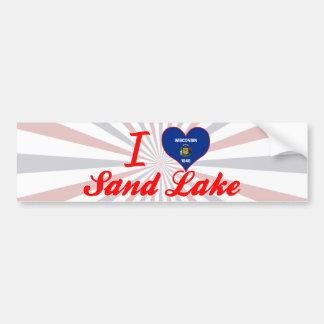 Amo el lago sand, Wisconsin Etiqueta De Parachoque