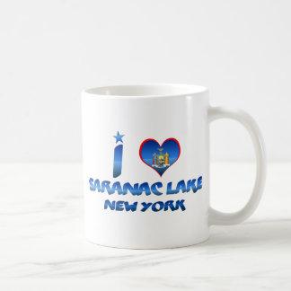 Amo el lago Saranac, Nueva York Taza Clásica