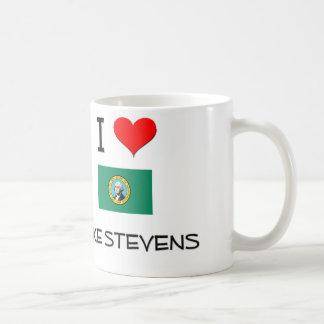 Amo el lago Stevens Washington Tazas De Café