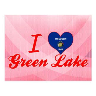 Amo el lago verde, Wisconsin Tarjeta Postal