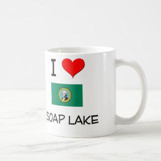 Amo el lago Washington soap Taza Básica Blanca