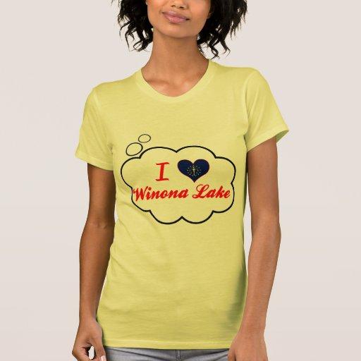 Amo el lago Winona, Indiana Camiseta