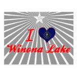 Amo el lago Winona, Indiana Postales
