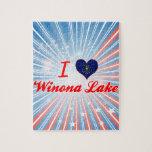 Amo el lago Winona, Indiana Rompecabezas Con Fotos