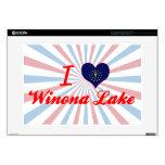 Amo el lago Winona, Indiana Skins Para Portátiles