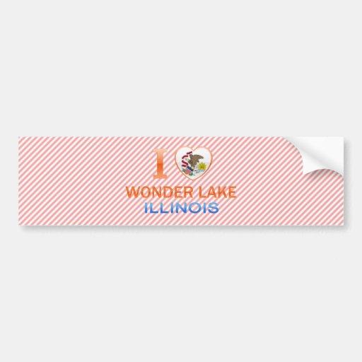 Amo el lago wonder, IL Pegatina Para Auto