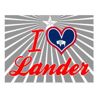 Amo el Lander, Wyoming Tarjetas Postales
