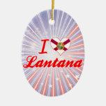 Amo el Lantana, la Florida Ornamento Para Reyes Magos
