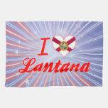 Amo el Lantana, la Florida Toallas