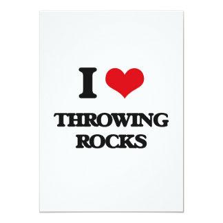 Amo el lanzar de rocas invitación 12,7 x 17,8 cm