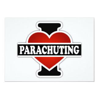 """Amo el lanzarme en paracaídas invitación 5"""" x 7"""""""