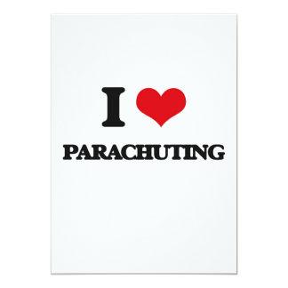 Amo el lanzarme en paracaídas invitación 12,7 x 17,8 cm