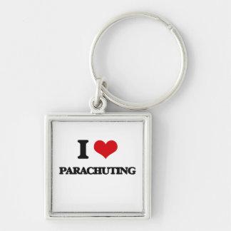 Amo el lanzarme en paracaídas llaveros personalizados