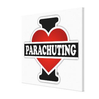 Amo el lanzarme en paracaídas lona estirada galerías