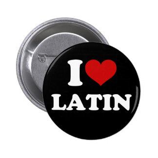 Amo el latín pin redondo 5 cm