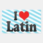 Amo el latín rectangular pegatina