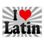 Amo el latín tarjeta postal