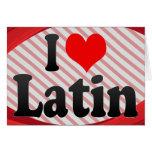 Amo el latín tarjeton