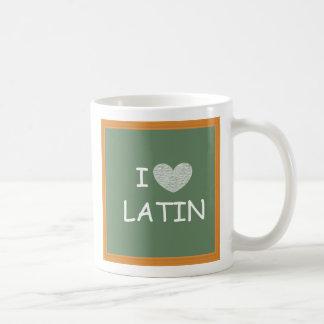 Amo el latín taza de café