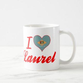 Amo el laurel, Delaware Taza Clásica